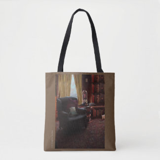 Books on a tote bag