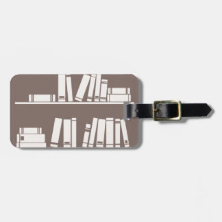 Books on the shelf for reading lover or wise guy luggage tag