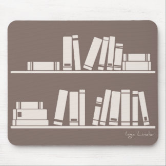 Books on the shelf for reading lover or wise guy mouse pad