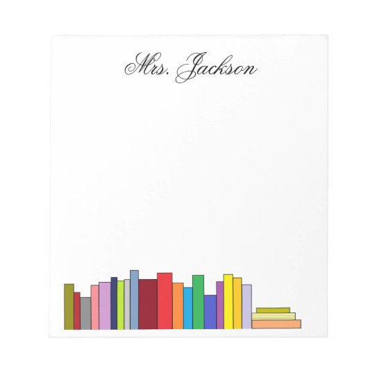 """Books"" Personalized Notepad"