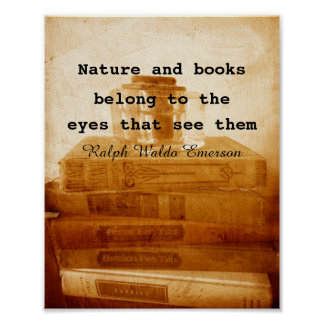 Books poster vintage style photo quote in sepia