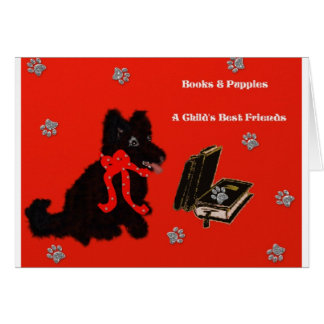 Books & Puppies Card