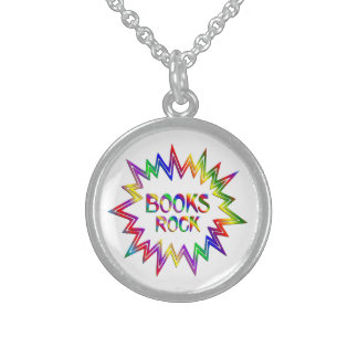 Books Rock Sterling Silver Necklace