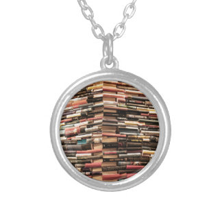 Books Silver Plated Necklace
