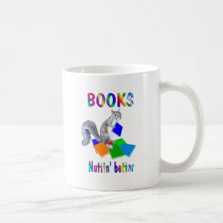 Books Squirrel Classic White Coffee Mug