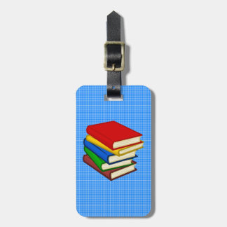 BOOKS STACKED LUGGAGE TAG