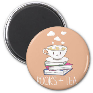 Books + Tea magnet
