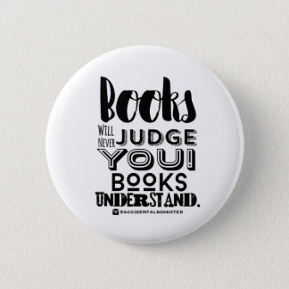 Books Understand Round Button (white)