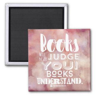 Books Understand Square Magnet