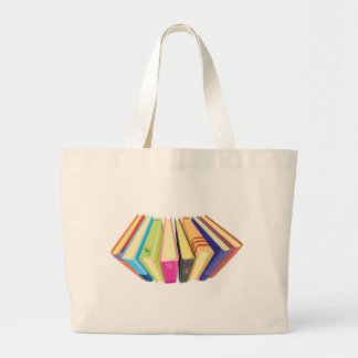 books upper view large tote bag