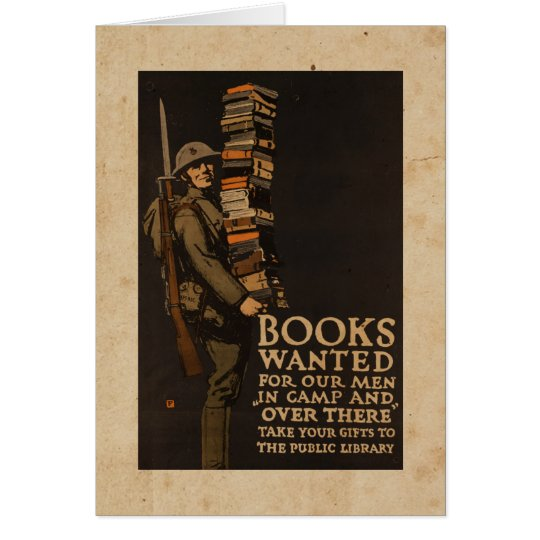 Books wanted for our men - Vintage War Card