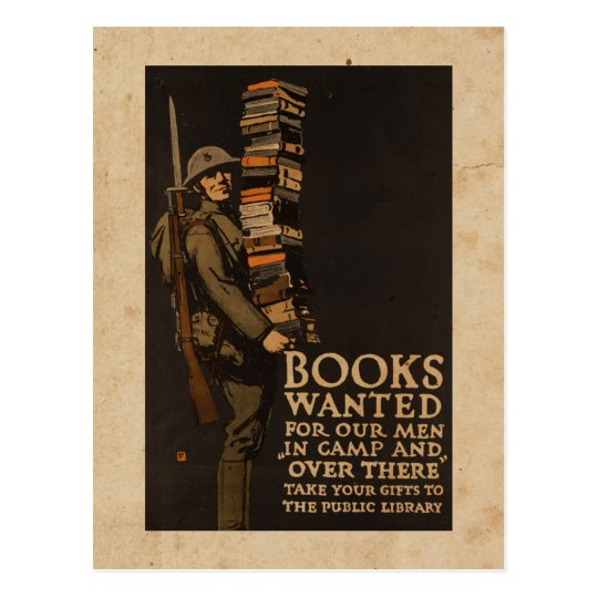 Books wanted for our men - Vintage War Postcard
