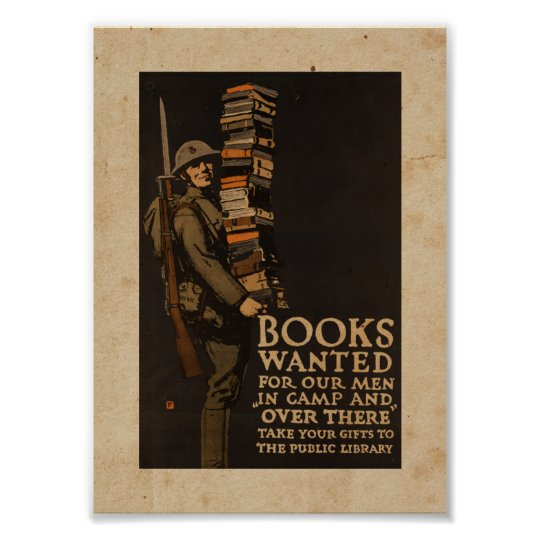 Books wanted for our men - Vintage War Poster