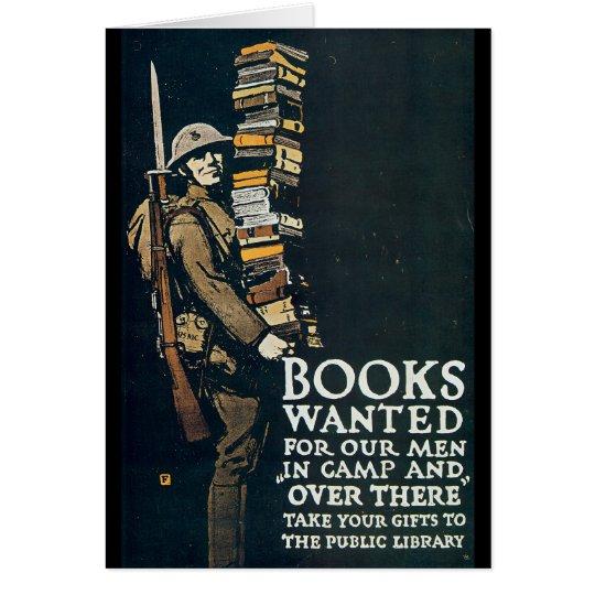 Books Wanted World War II Card