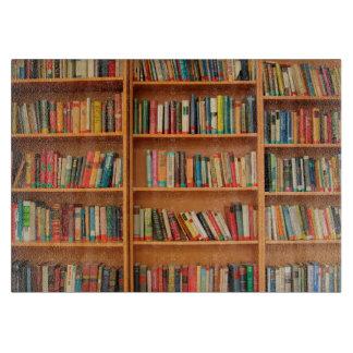 Bookshelf Books Library Bookworm Reading Cutting Board