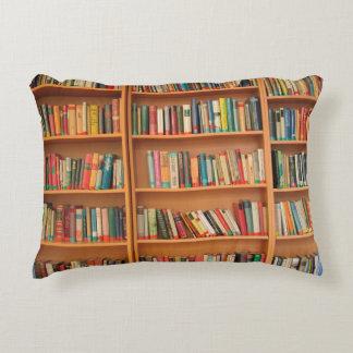 Bookshelf Books Library Bookworm Reading Decorative Pillow