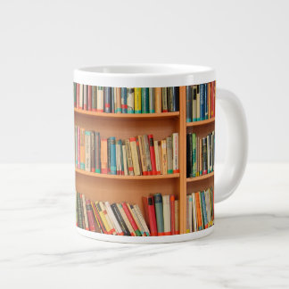 Bookshelf Books Library Bookworm Reading Large Coffee Mug