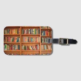 Bookshelf Books Library Bookworm Reading Luggage Tag