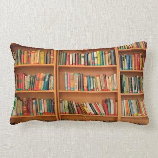 Bookshelf Books Library Bookworm Reading Lumbar Pillow