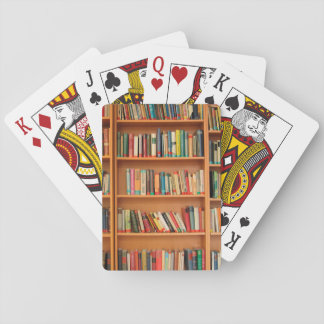 Bookshelf Books Library Bookworm Reading Playing Cards