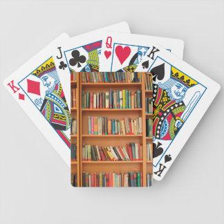 Bookshelf Books Library Bookworm Reading Poker Deck
