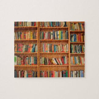 Bookshelf Books Library Bookworm Reading Puzzle