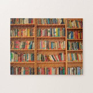 Bookshelf Books Library Bookworm Reading Puzzles