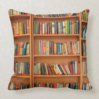 Bookshelf Books Library Bookworm Reading Throw Pillow