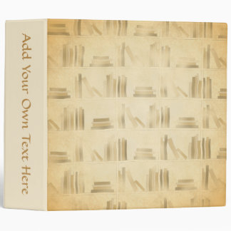Bookshelf Pattern. Vintage Style Look Background. Binders
