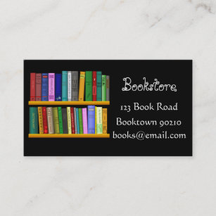 Bookshop business cards profile cards zazzle ca bookshop bookstore or online books business card reheart Image collections
