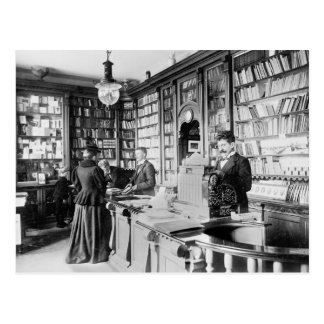 Bookstore, 1895 postcard