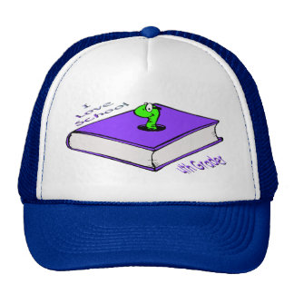 Bookworm 4th Grader - I love School Trucker Hat