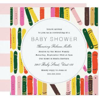 Bookworm Baby Shower Card