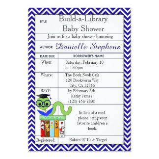 Bookworm Baby Shower Invitations Boy