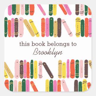 Bookworm Book Label