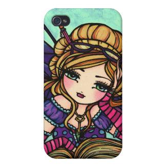 Bookworm Fairy Cute Fairy Fantasy Art iphone Case Case For iPhone 4
