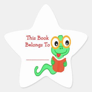 Bookworm Star Sticker