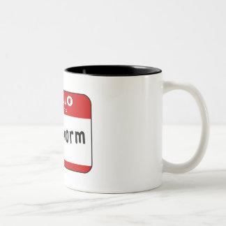 Bookworm Two-Tone Coffee Mug