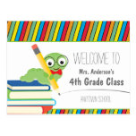 Bookworm Welcome Back To School colourful