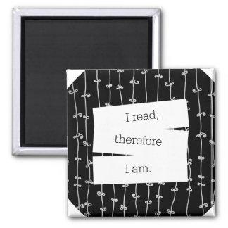 Bookworm's motto fridge magnet