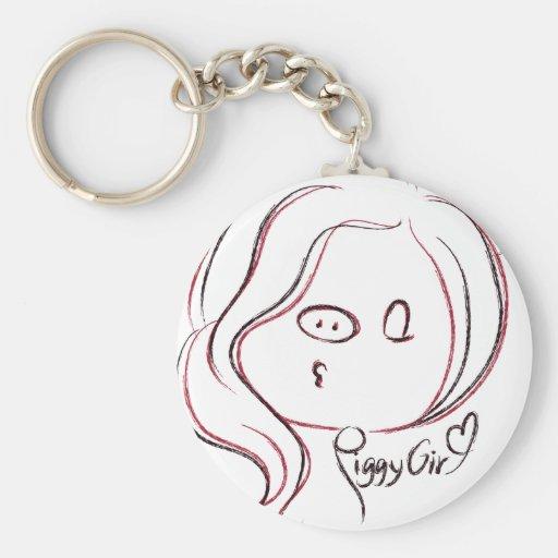 Boolack&Red Girl Key Chain