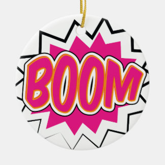 boom2 ceramic ornament