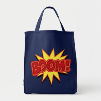 Boom! Grocery Tote Bag