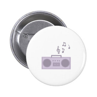 Boom Box Pinback Buttons