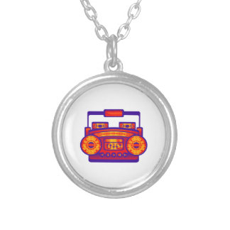 Boom Box Extreme Silver Plated Necklace