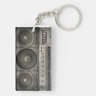 Boom Box Key Chain