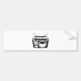 ☞ boom box Oldschool/cartridge player Bumper Sticker