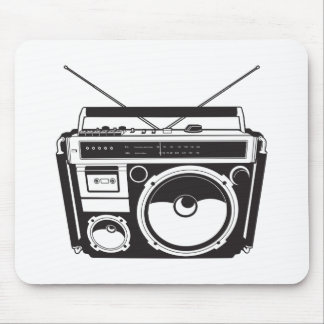 ☞ boom box Oldschool/cartridge player Mouse Pad