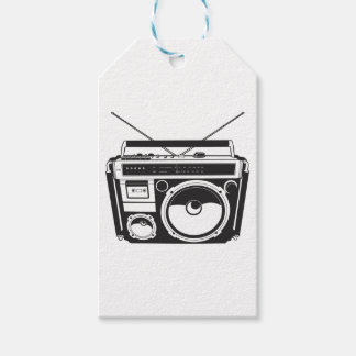 ☞ boom box Oldschool/cartridge player Pack Of Gift Tags