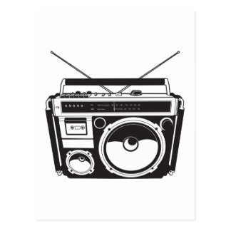 ☞ boom box Oldschool/cartridge player Postcard